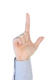 Finger up Stock Image