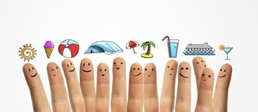 Finger, vacation symbol Stock Photo