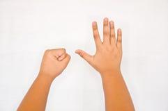 Finger von der Kinderhand Lizenzfreie Stockfotografie