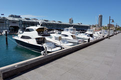 Finger Wharf and marina in Woolloomooloo Bay Sydney New South Wa Royalty Free Stock Photo