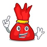 Finger wrapper candy mascot cartoon. Vector illustration Royalty Free Stock Photography