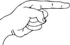 Finger-Zeigen Stockfoto