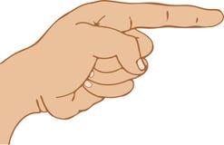 Finger-Zeigen Lizenzfreies Stockbild