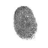 Fingerabdruck. Stockfotografie