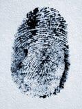 Fingerabdruck. lizenzfreies stockfoto