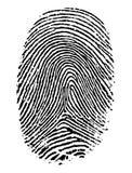 Fingerabdruck. lizenzfreie abbildung