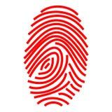 Fingerabdruck Stockfoto