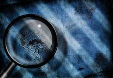 Fingerabdruck forschen nach Lizenzfreie Stockfotos