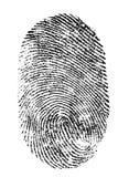Fingerabdruck getrennt Lizenzfreie Stockbilder
