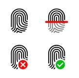 Fingerabdruck-Ikonensatz Stockbilder