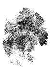 Fingerabdruck im Abschluss oben lizenzfreie abbildung