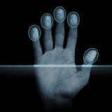 Fingerabdruck-Scanner Lizenzfreies Stockbild