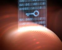 Fingerabdruck-Sicherheit Digital Stockfotos
