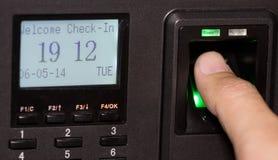 Fingerabdruck und Passwort Stockfotos