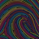 Fingerabdruck (Vektor) Lizenzfreie Stockfotografie