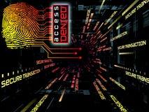 Fingerabdruck-Zugriff Lizenzfreies Stockbild