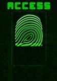 Fingerabdruckhintergrund Lizenzfreie Stockfotografie