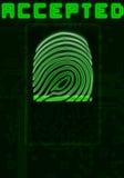 Fingerabdruckhintergrund Stockbild