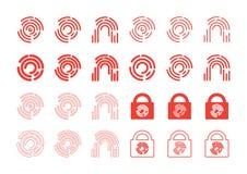 Fingerabdruckikonen lizenzfreie abbildung