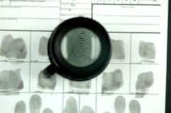 Fingerabdruckkarte Lizenzfreie Stockfotografie