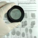 Fingerabdruckkarte Stockfotos