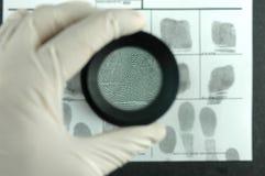 Fingerabdruckkarte Stockbilder