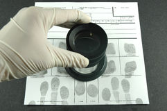 Fingerabdruckkarte Lizenzfreie Stockfotos