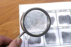 Fingerabdruckkarte stockfotografie