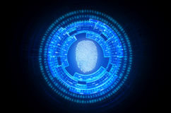 Fingerabdruckscan Sicherheit lizenzfreie abbildung