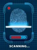 Fingerabdruckscannen. Stockbild