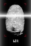 Fingerabdruckscannen Stockbild