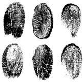 Fingerabdruckvektor Lizenzfreie Stockbilder