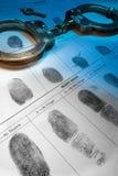 Fingeravtryck - lag och beställning Arkivbild