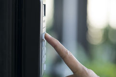 Fingeravtryck och åtkomstskydd Fotografering för Bildbyråer