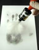 fingeravtryck som avslöjer Royaltyfria Bilder