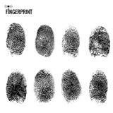 Fingeravtryckuppsättning Fotografering för Bildbyråer