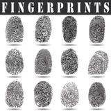 Fingeravtryckvektorillustration Royaltyfri Bild