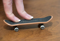 Fingerboard royalty free stock image