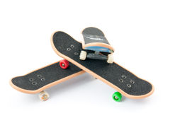 Fingerboard. Three boards on a white background Royalty Free Stock Photography