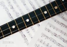 Fingerboard балалайки 3 строк Стоковая Фотография