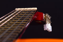 Fingerboard of Classic Guitar Royalty Free Stock Images