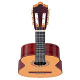 Fingerboard classical guitar, top view Stock Photography