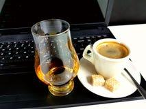 Fingerboard das chaves de teclado do malte do café único Foto de Stock Royalty Free