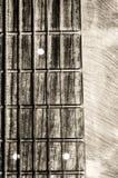 Fingerboard del collo della chitarra acustica Fotografia Stock Libera da Diritti