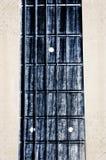 Fingerboard del collo della chitarra acustica Immagini Stock