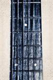 Fingerboard del cuello de la guitarra acústica Imagenes de archivo