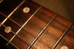 Fingerboard der Gitarre Stockfotos