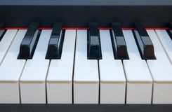 Fingerboard do piano Fotografia de Stock Royalty Free