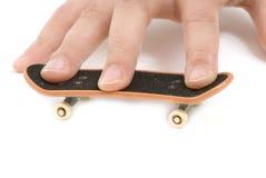 Fingerboard getrennt auf weißem Hintergrund Lizenzfreie Stockfotos