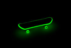 Fingerboard glowing in the dark Royalty Free Stock Photo
